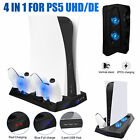For PS5 UHD/DE Vertical Stand+Cooling Fan+Controller Charging Station+USB Hub US