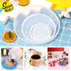 Resin Casting Mold Silicone Jewelry Agate Making Mould Tool Craft Round Coaster