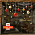 Christmas Xmas Removable Baubles Balls Window Stickers Wall Home Shop Decor Uk