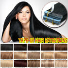 """8A Russian Seamless Tape in 100% Remy Human Hair Extensions 10""""-24"""" Highlight US"""