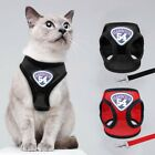 Breathable Puppy Small Dog Cat Harness and Walking Leads Set Pet Mesh Vest-
