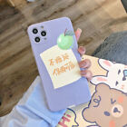 Cute Fruit Flower Lambskin Phone Case Cover For Apple iPhone12 Pro Max XR 11 7 8