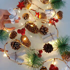 Christmas 2M 20LEDs Garland Pine Cone String Lights Battery Wedding Party Decor
