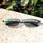 New Men's Half Rim Myopia Nearsighted Photochromic Grey Eyeglasses Sunglasses