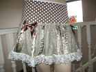 Steampunk lace satin Party skirt brown cream white frilly Boho Festival Hippy UK
