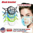 3D Face Mask Bracket Mouth Separate Inner Stand Soft Silicone Holder Frame