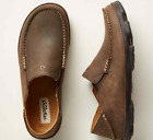 Olukai Moloa Dark Wood Leather Loafer Slip-On Clog Men's sizes 7-14 NEW