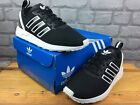 ADIDAS ZX FLUX ADV TRAINERS BLACK WHITE CHILDRENS BOYS VARIOUS SIZES RRP £75 C
