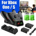 Controller Dual Charging Dock Station+2X Rechargeable Battery Pack for Xbox One