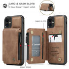 For Iphone 12 Pro Max 11 7/8 Xr Xs Leather Wallet Card Slot Back Case Flip Cover