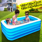 3/4 Layers Large Family Inflatable Swimming Pool Garden Outdoor Kids Paddling