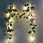 Red Berry LED Fairy String Lights Christmas Garland Ornament Party Decoration US