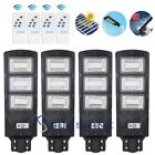 1/2/4x LED Solar Street Light 900000LM 90W Dusk-to-Dawn Outdoor Area Road Lamp