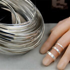 925 Sterling Silver Rectangle Flat Wire Cuff Ring Blank for Jewelry Making 100mm