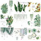 18 Styles Tropical Leaves Green Plant Wall Stickers Pvc Decal Home Decor Uk