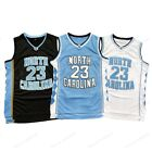 Michael Jordan 23 North Carolina Mens Basketball Jersey Sewn Black Blue White