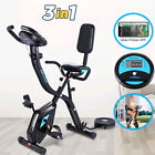 ANCHEER Indoor 3 in 1 Exercise Bike Slim Folding Bike Stationary Magnetic Cycle;