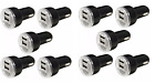 10 Pack Dual USB Port Car Charger Adapter 2.1A For Universal Android Phone