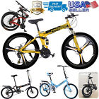 Outroad Mountain Bike 21 Speed 26 inch Folding Bike Double Disc Brake Bicycles