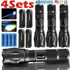 4x Ultra Bright Tactical 350000LM LED Flashlight Zoom Hand Torch Light Lamps