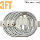 3 Pack 3/6Ft USB-C to iPhone Cable PD Fast Charger Cord For iPhone 12 11 Pro Max