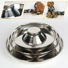 Pet Feeder Bowl Stainless Dish Puppy Dogs Cats Litter Food Feeding Weaning Dish