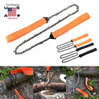 """24"""" Mini Rope Wood Chain Saw Travel Outdoor Camping Survival Chainsaw Hand Tool"""
