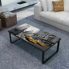New Glass Coffee Table Side Coffee End Table 4 Patterns Selectable Living Room