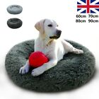 Large Dog Calming Bed XL Round Cozy Anti-Anxiety Fluffy Nest Mattress 40 to 90cm