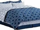 Bedsure 8-Piece Bed-in-A-Bag Queen Size (88X88 inches), Navy Blue Down Alternati