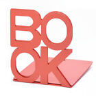 2PCS Anti-skid Letter Portable Stationery Home Bookend Desktop Metal Stand
