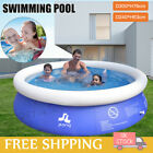 8/10FT Large Swimming Pool Garden Summer Inflatable Family Kids Paddling Pools