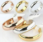4mm Band Ring Polished Wedding Women Stainless Steel Size 5-13 Engagement Party