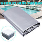 Two Size Square UV Proof Spa Hot Tub Cover Guard Cap Protector Case Outdoor US