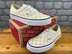 VANS LADIES AUTHENTIC CHECKERBOARD APRICOT CREAM TRAINERS RRP £55 MANY SIZES E