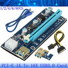 Lot PCI-E 1X to 16X USB3.0 Extender Riser Card Data Cable Dedicated for Bitcoin