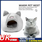 Cat Pet Dog Warm House Cave Beds for Indoor Cats Cozy Wool Igloo Nest Kennel UK