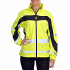 Equisafety Lightweight Waterproof Safety Wear Reflective Jacket - Yellow