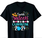 Sweet 16 In Quarantine 2021 Gifts Funny 16th Birthday T-Shirt gift for boy girl