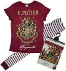 Womens Official Harry Potter Hogwarts T-Shirt Top Gift Pyjamas Plus Size 8 to 22