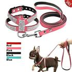 Small Dog Harness and Leash Set Leather Walking Leads for Small Medium Dogs Pets