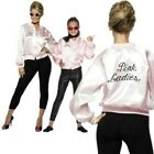 Pink Ladies Jacket Ladies Grease Fancy Dress T Bird Licensed Costume Girls 80s