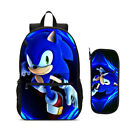 The Hedgehog Sonic School Students Backpack Kids Travel Large Bags With Pen Case