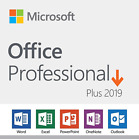 DVD Microsoft Office 2019 Professional Plus | Retail Product Key 1 PC Lifetime