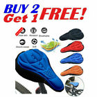 Soft Padded Bike 3D Gel Saddle Seat Cover Bicycle Silicone Comfort Pad Cushion