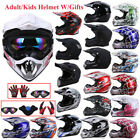 Adult Youth Kids Open Face Helmet /Goggles /Gloves /Mask Motocross Off-Road DOT