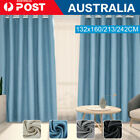 2pcs Blockout Curtains Thermal Blackout Curtains Fabric Pair Eyelet For Bedroom