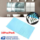 Mirror Surface Tile Wall 3D Stickers Square Home Office Shop DIY Decor