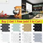 Mosaic Sticker Kitchen Tile Stickers Bathroom Self-adhesive Wall Decor Home Diy