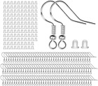 925 Sterling Silver Earring Hooks -120 Pcs 60 Pairs Ear Wires Dangle Hoop Parts